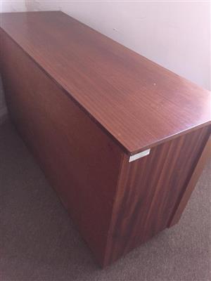 Solid Wood Mahogany Credenza