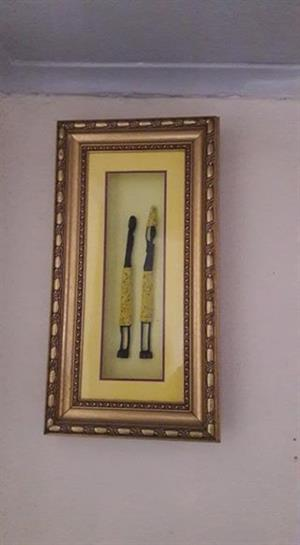 African art in frame for sale