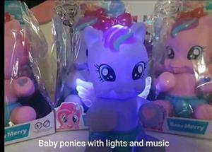 Baby ponies with lights and music