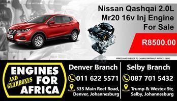 Nissan 2.0L Dohc Mr20de 16v Inj Engine For Used Sale