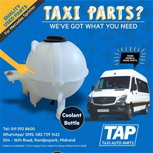 Coolant Bottle for Mercedes Sprinter - Taxi Auto Parts quality used spares - TAP