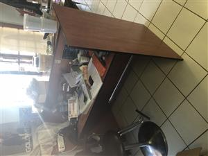 Wooden Desk in Hair Salon