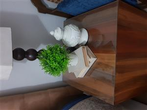 2x Contemporary wooden side tables/ottomans