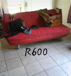 3 Seater red couch for sale