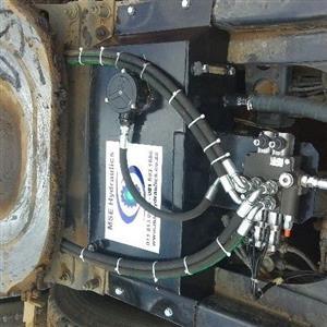 hydraulic system installation for trucks