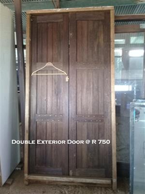 Used Double Exterior Door Junk Mail
