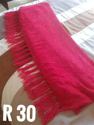 Pink winter blanket