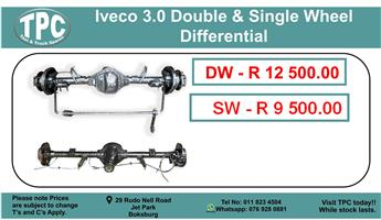 Iveco 3.0 Double & Single Wheel Differential For Sale.