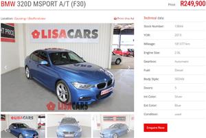 2013 BMW 3 Series 320d M Sport auto