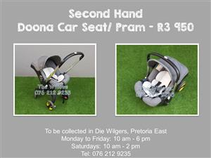 Second Hand Doona Car Seat/ Pram - Grey