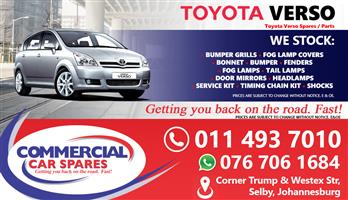 Toyota Verso 2004 parts for sale