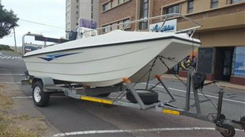 16 foot Sodwana cat Skiboat hull and trailer in excellent condition!!!!