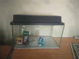 Reptile tank for sale with accesories