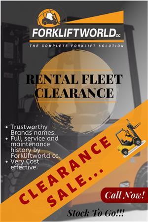 2019 FORKLIFTWORLD's Rental Fleet Clearance Sale!!!