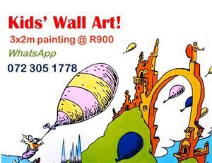 Kids Wall Art Special @ R900 per 3mx2m painting!