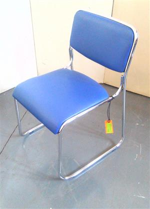 Blue visitor leather chair