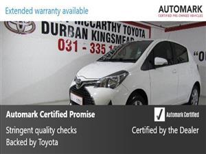 2016 Toyota Yaris 5 door 1.3 XS auto
