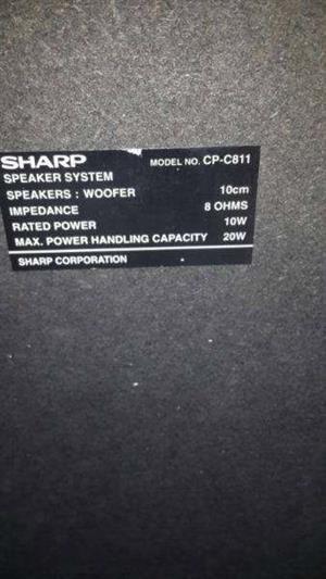 Sharp Speakers x2
