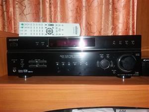 sony str de400 surround sound amplifier with remote