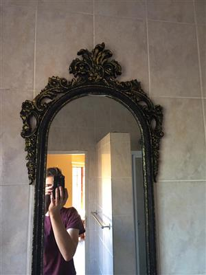 Antique look 1m mirror