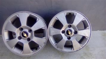 4 x 15 inch Chev Rims available