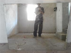 Wall mount mirror. 1.7m x 1.2 m