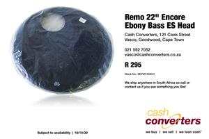 "Remo 22"" Encore Ebony Bass ES Head"