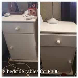 2 Bedside tables for sale