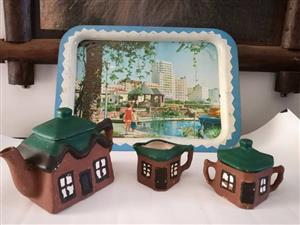 Little brown house teapot set
