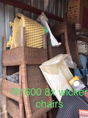 8 Wicker chairs for sale