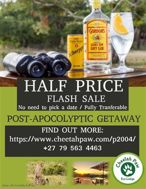 HALF PRICE Flash Sale!