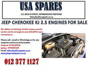 JEEP CHEROKEE KJ 2.5 ENGINES FOR SALE
