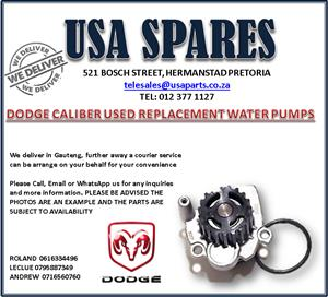 DODGE CALIBER USED REPLACEMENT WATER PUMPS