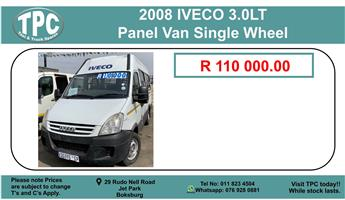 2008 Iveco 3.0LT Panel Van Single Wheel For Sale.
