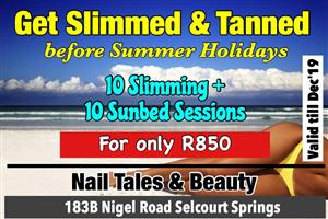 Come to Nail Tales & Beaugy to Get Slimmed & Tanned and look good for the summer