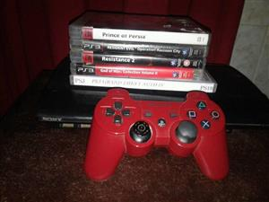 Ps3 CONSOLE x 1 Controller and 5 Games