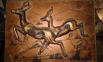 Brass buck wall hanger for sale