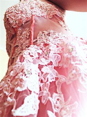 Peach matric farewell dress