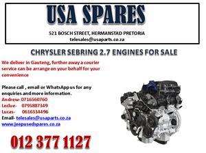 CHRYSLER SEBRING 2.7 ENGINES FOR SALE