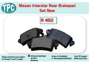 Nissan Interstar Rear Brakepad Set for Sale at TPC