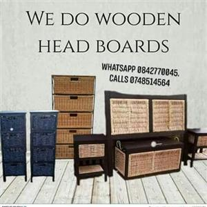 Headboard chest of drawers and more