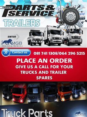 we sell all types of trucks  and trailer parts