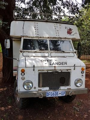 Landrover Overlander 4x4 RV with shower room and solar panels