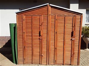 Two large custom garden sheds