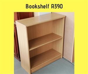 Light wooden 2 tier bookshelf