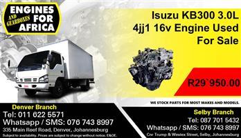 Used Isuzu KB300 4JJ1 3.0Tdi 02-04 Engine FOR SALE
