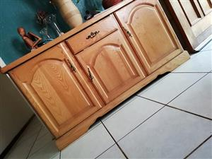 Wooden 3 door cabinet for sale