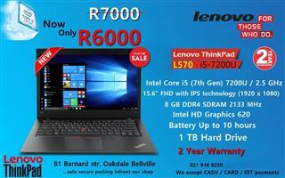 New Lenovo ThinkPad L570 - 7th gen Core i5 – 8GB DDR4 – 15.6'' Full HD – Bluetech Computers 021 948 8230