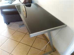 Glass (tinted) table/desk