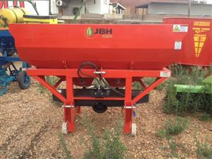 JBH 1000lt Double Disc Fertilizer Spreader / Kunsmis Strooier (38549) New Implement